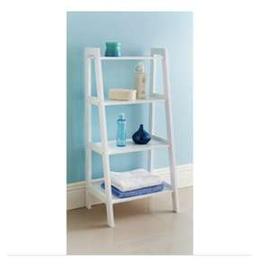 B&M  White 4 tier shelf £1