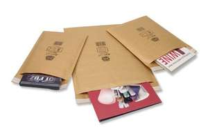 Jiffy Airkraft Lightweight Postal Bag for A5 and DVD - Box of 100 - Size 1, Gold, 170 x 245mm - Sold and Fulfilled by Globe Packaging - £11.80 Delivered