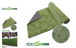 CC Grass : Premium artificial turf Grass - (2 rolls for £50) (1m x 4m per roll) @HomeBargains