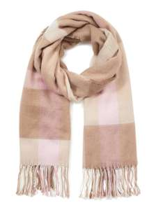 Camel Checked Scarf £4.00 (was £16.00) using code EXTRA20 @ Miss Selfridge + Free Delivery using code FREEDEL23