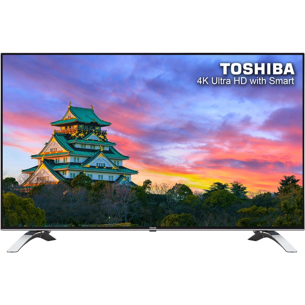 "Toshiba 55U6663DB 55"" Smart 4K Ultra HD TV - Black  with code £359 at AO"