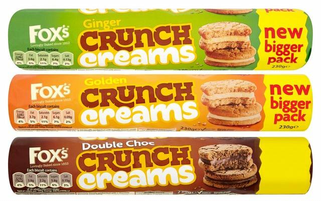 Fox's Golden / Chocolate / Ginger Crunch Creams (230g) – 50p @ Tesco