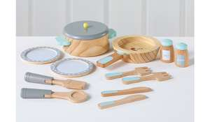 12 piece wooden childs play cooking set £9.60 @ Asda
