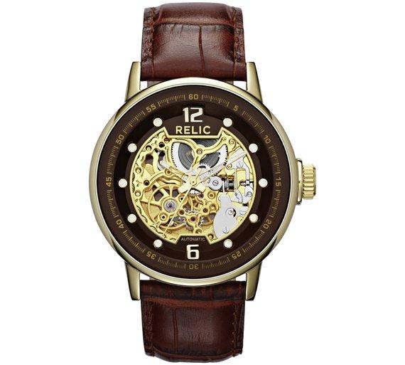 Relic ZR77241 men's automatic skeleton dial watch £41.99 was £79.99 @ Argos
