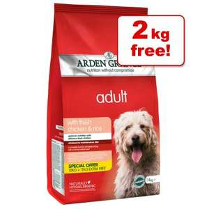 Arden Grange Dog food 12kg + 2kg free £26.99 (Postage £2.99) @ Zooplus.co.uk