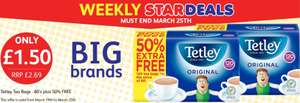 120 Tetley Tea Bags £1.50 @ Poundstretcher