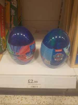 paw patrol/pj masks craft egg £2.99 home bargains
