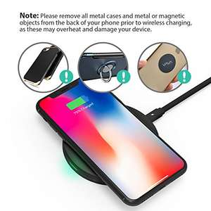 RAVPower Wireless Charger 5W Standard Charge for iPhone X iPhone 8 Plus, Qi Charger 10W Quick Charge for Galaxy S8 Note 8  £7.49 Prime / £11.48 non prime using code @ Amazon / Sunvalleytek-UK