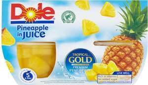 Dole pots Pineapple in juice 4x113g 49p @ poundstretcher
