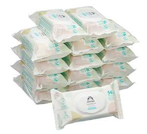 Mama Bear baby wipes Pack of 15 (Total 840 wipes) £6.99 Amazon Prime Exclusive or £6.64 subscribe & save
