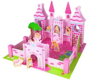 Further reduced ,Chad Valley Princess wood Castle + 10 figures now £14.99 was £49.99 @ Argos