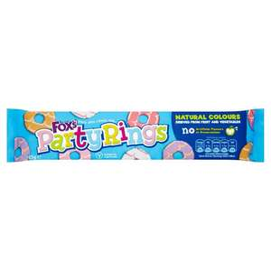 Fox's Party Rings (125g) now 50p @ ASDA
