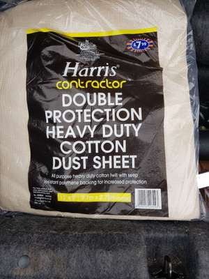 Harris contractors Dustsheet.. £7.99 price error scanned 10p at B&M Instore @ Lincoln
