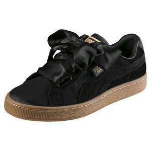 Puma Womens Basket Heart VS Trainer - Black/Gold Or Pink/Gold £28.95 w/code @ Puma (30% off everything else incl Sale)