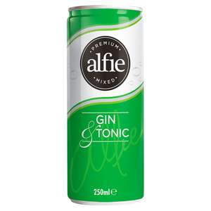 Alfie Premium Mixed Gin & Tonic 250ml - £1 at Iceland
