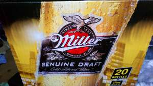 Beers and cider reduced e.g miller 20 pk £8.45 @ Tesco instore - Scotland