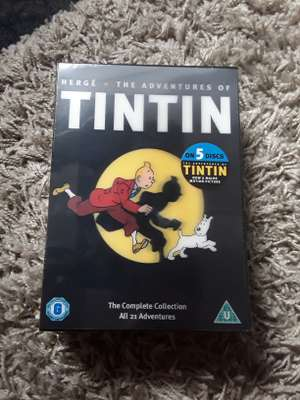 HERGE ADVENTURES OF TINTIN - 5 DISCS, 21 ADVENTURES, NEW £1 @ POUNDLAND