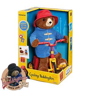 Cycling paddington soft toy - £9.99 @ Home Bargains