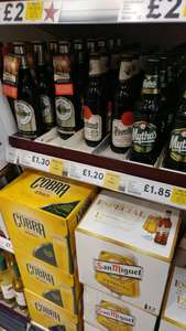 Lots of Beers Reduced in store @ Tesco - Urquell, Stella, Super Bock, Estrella, Bud Lite, Miller... + more