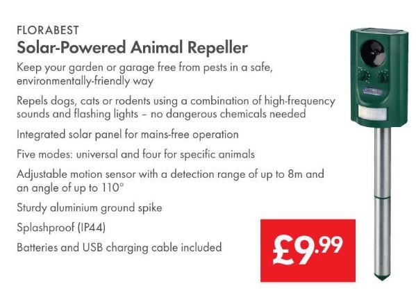 Animal Repeller - Solar Powered - £9.99 - LIDL (Florabest)- Instore - 3 Year Warranty