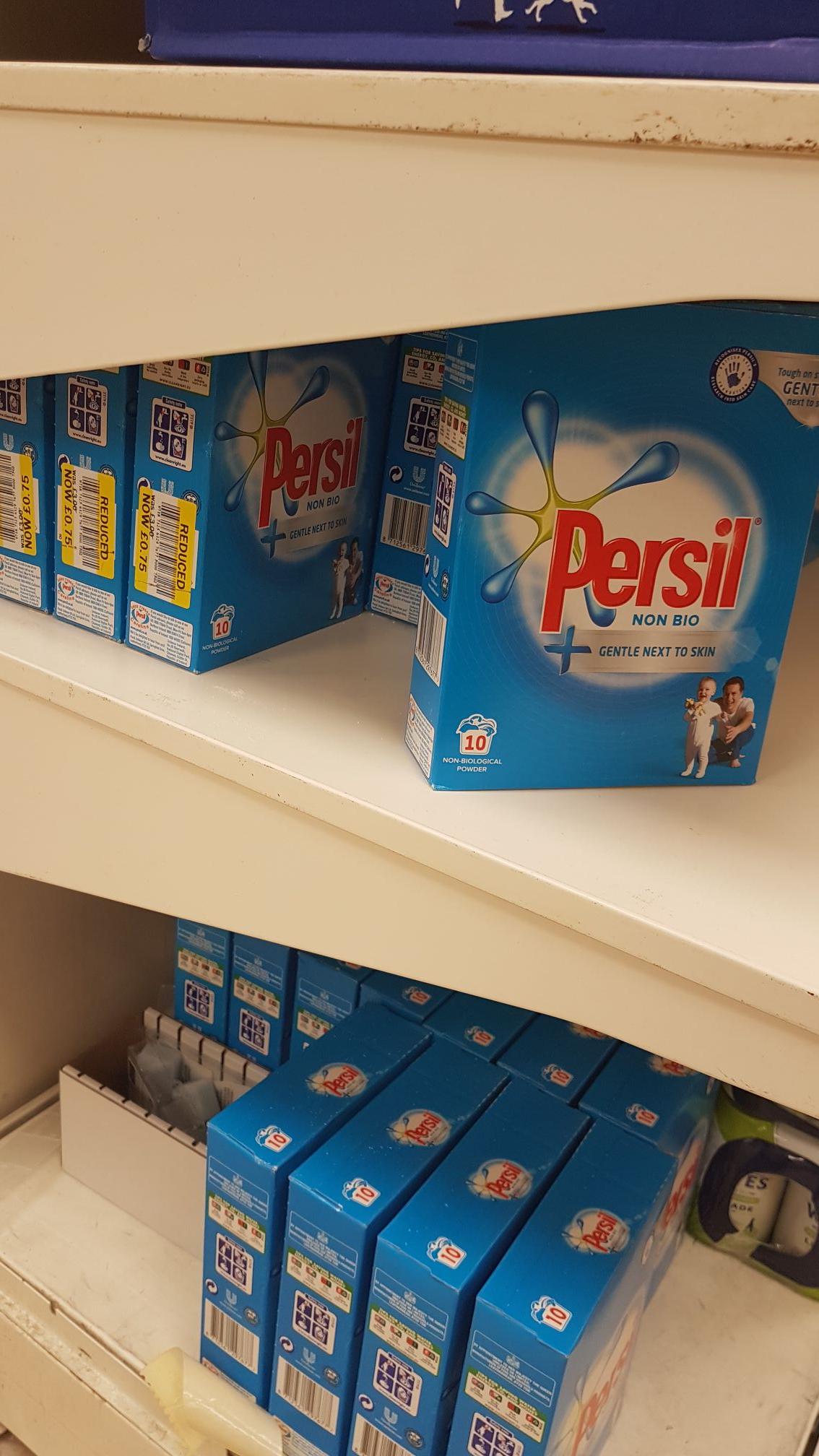 Persil non bio 10 wash tesco (York Clifton Moor store) - RTC - 75p