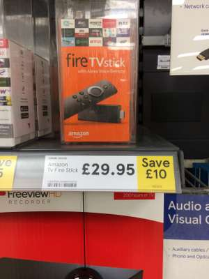 Amazon fire stick with Alexa remote - £29.95 instore @ Tesco