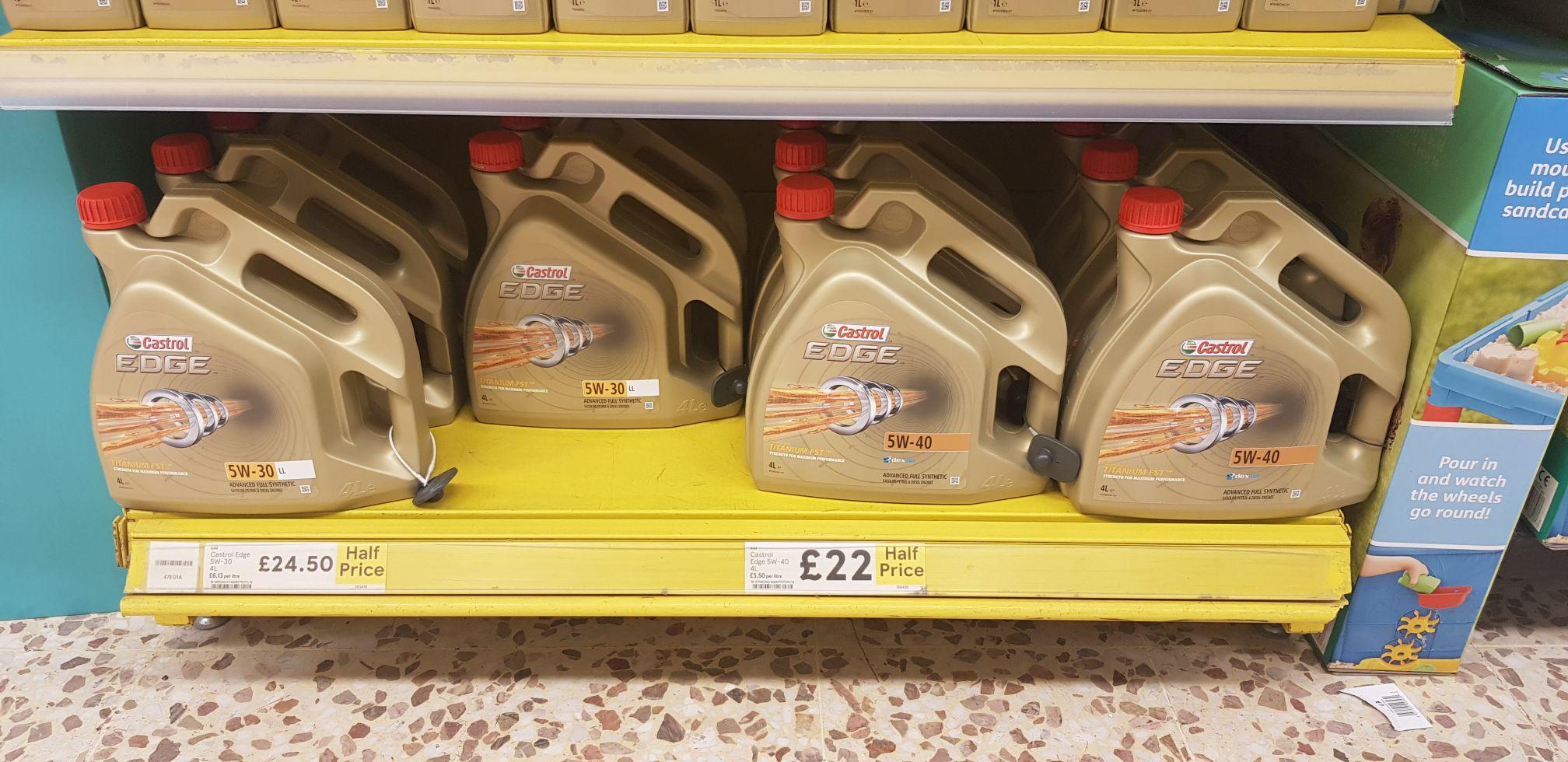 Castrol Edge 4l half price - £22 instore @ Tesco