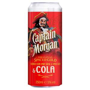 Captain Morgan Rum & Cola (250ml) £1.87 @ ASDA
