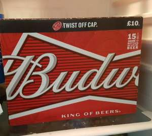 15 bottles of bud being sold off @Tesco express London  - £6.50
