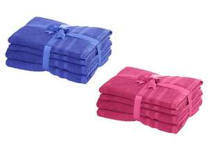 Cotton Towel Bale Sets (2 Bath Towels + 2 Hand Towel) from £7 @ Tesco Direct (Free C&C)
