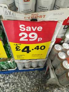 Carlsberg Export 4 x 568ml – £4.40 @ Iceland instore discount offer