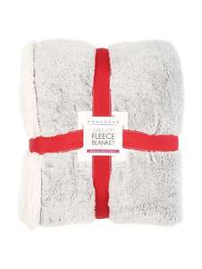 Sherpa Fleece Blanket £5.00 (was £16.00) @ Peacocks - Free C+C