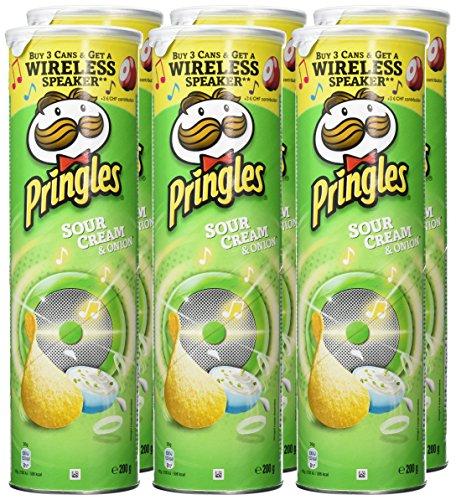 Pringles sour cream and onion 200g x 6 ! – £6.72 (Prime) £11.47 (Non Prime) @ Amazon