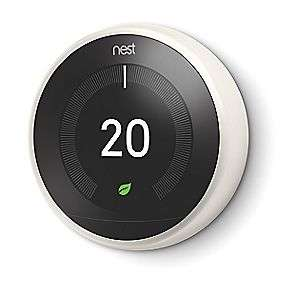 NEST SMART THERMOSTAT & HOT WATER CONTROL WHITE With Free Stand – £169.99 @ Screwfix