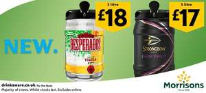 Desperados 5 litre keg – £18 / Strongbow Dark Fruit 5l Keg – £17 @ Morrisons