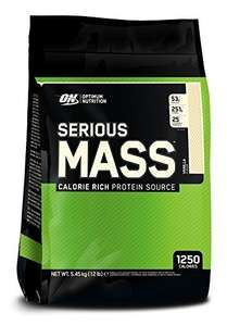 Optimum Nutrition Serious Mass Calorie Rich protein 5.45kg £29.99 @Amazon