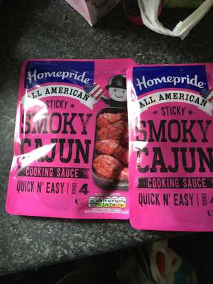 Homepride smoky Cajun sauce 2 for £1 in Fulton's