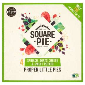Square Pie Spinach G/Cheese S/Pot4x65g, Waitrose, - £1.75