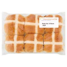 Bakers selection, 12 hot cross buns £1 @ Asda