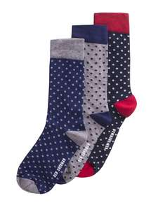THREE PACK SPOTTED Socks Ben Sherman 50% off sale today @ Ben sherman - £6 + £3 P&P