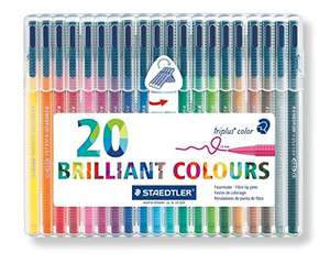 Staedtler 323 Triplus Colour Fibre-Tip Pens, Pack of 20 £8.00 (Prime) £11.99 (Non Prime) @ Amazon