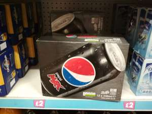 12 X 330ml cans Pepsi Max £2 - Poundland in store