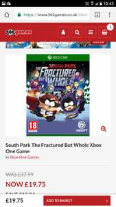 South Park The Fractured Butt Whole ps4 or xbox £17.77 with code @ 365games