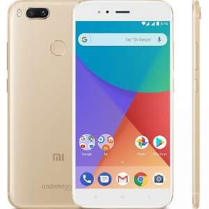Xiaomi Mi A1 (androidONE) 4GB 64GB GOLD UNLOCKED Dual Sim 4G LTE + FREE GIFT (£6.99) + 2.02% TopCashback + Free Delivery @ eglobalcentraluk - £129.99
