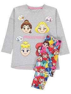 Emoji Princess child's pyjamas set 4-5,6-7,7-8 years £5 @ Asda