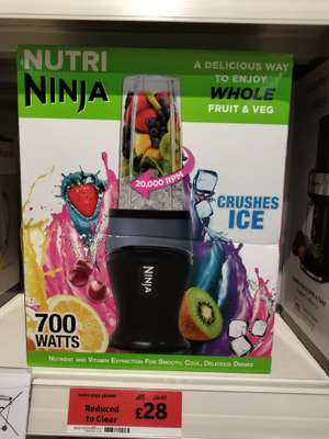 Nutri ninja700watt motor reduced to £28 in-store only and probly local  deal in Sainsbury's preston