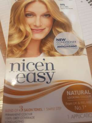 Nice & Easy hair dye 60p instore Oxford Road in Manchester - 60p @ Superdrug