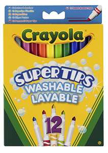 Add on item - Crayola Supertips Washable - Pack of 12 £2.50 @ amazon add on item