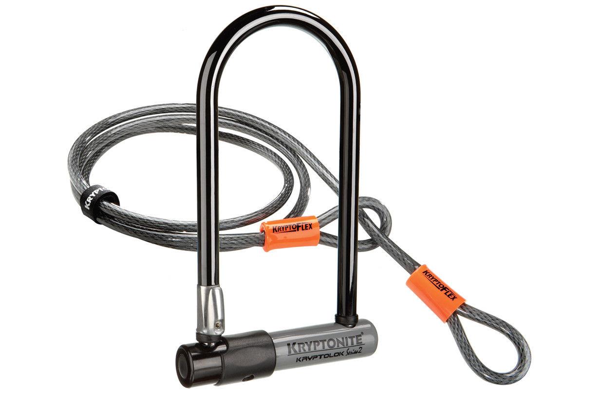 Kryptonite KryptoLok S2 Std D-Lock with 4 Foot KryptoFlex Cable - £17.27 using eBay code @ Evans Cycles / eBay