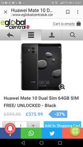 Huawei mate 10 £365 with code @ Eglobalcentral